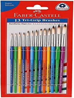 Faber Castell Round Tri-Grip Brush (Multicolour) - Pack of 13