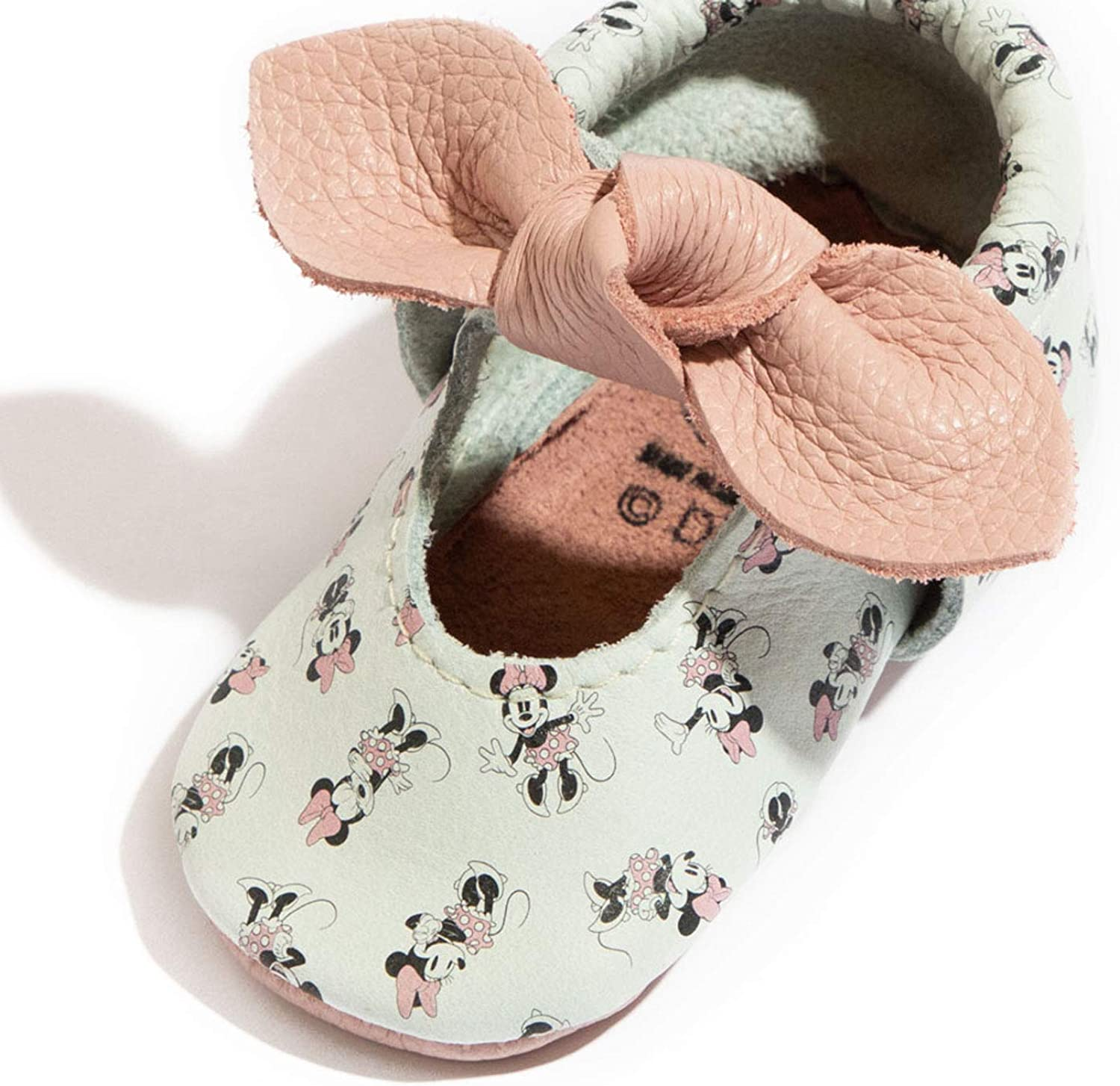 First Pair Soft Sole - All About Mini Knotted Bow Moccasins - Newborn Baby Girl Shoes - Size