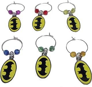 Wine Charms ~ Batman Wine Charms Wine Glass Marker Set of 6 (Style 3)