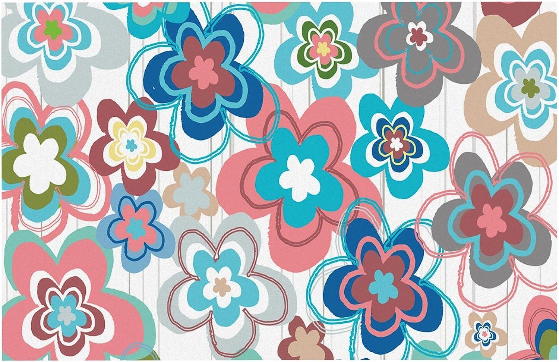 KESS InHouse JH2009ADM02 Jolene Heckman A Marsala Morning Multicolor Floral Dog Place Mat, 24  x 15