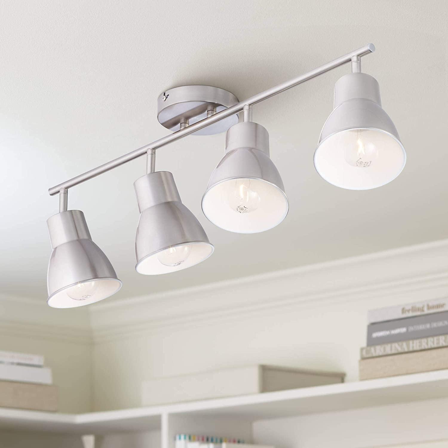 4-Light Brushed outlet Steel Track Fixture for Celling NEW before selling Wall Pro T or by