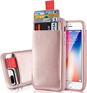 LAMEEKU iPhone 8 Plus Wallet Case, Shockproof Apple 7 Plus Leather Cases with Credit Card Holder Slot & ID Card Slot Pockets, Protective Cover for Apple iPhone 7 Plus/ 8 Plus 5.5