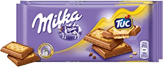 Milka & Tuc Cracker Chocolate Candy Bar Original German Chocolate 87g/3.06oz (Pack of 2)