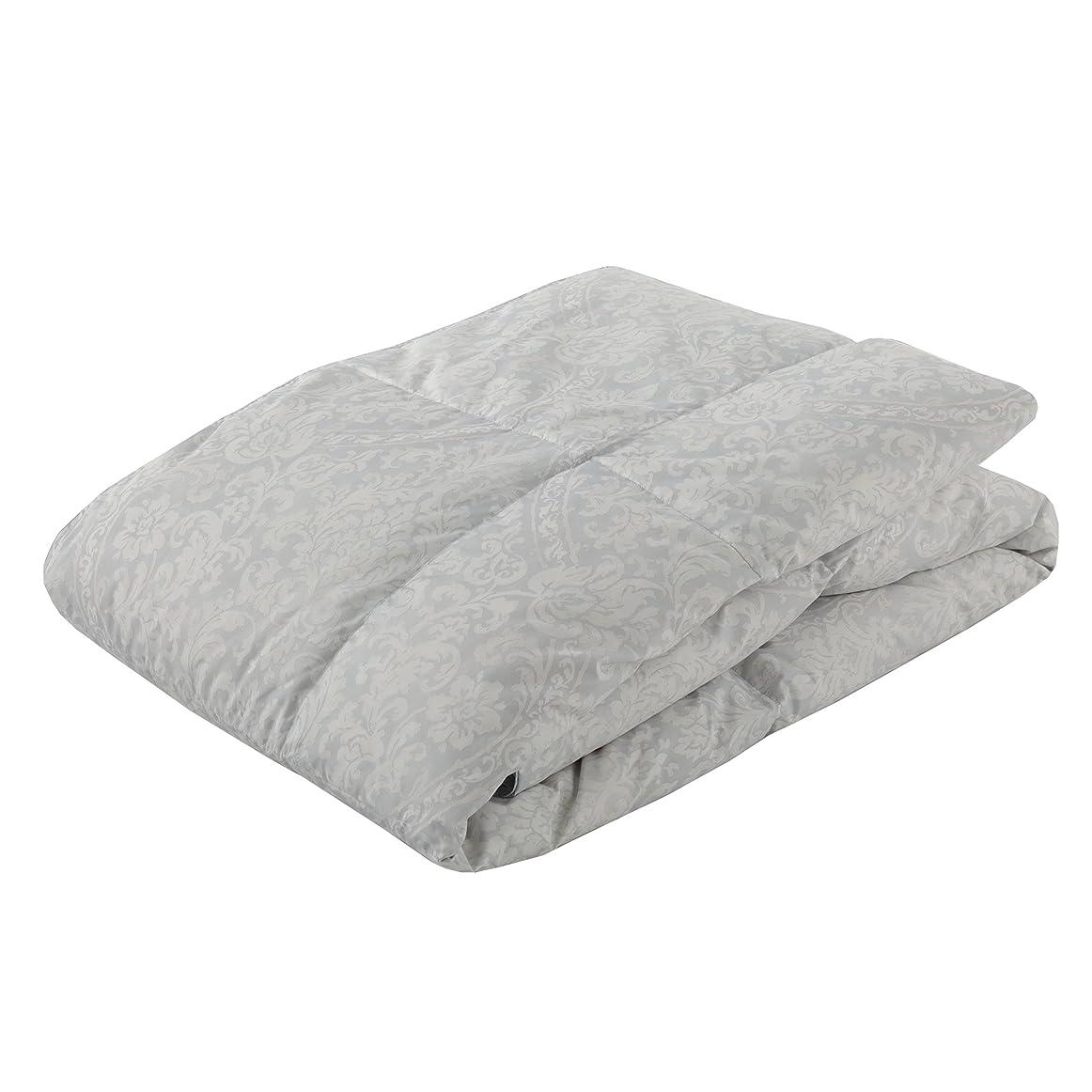 ステッチピクニック安価な東京西川 ダウンケット (羽毛肌掛け布団) シングル 洗える ホワイトダックダウン70% 抗菌防臭 軽量生地 クレセント オーナメント模様 B2(グレー) KE08005002B2
