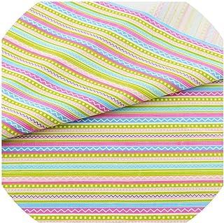 Linda tela de algodón a rayas para decoración del hogar, ropa de cama, colcha, patchwork, scrapbooking, muñeca de costura,...