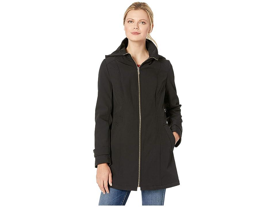 Tommy Hilfiger Zip Front Softshell Jacket (Black) Women