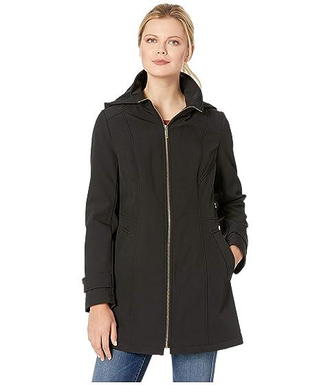 Zip Front Softshell Jacket, Black