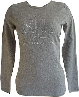 Ralph Lauren Men/'s Grey Crew Neck Cotton//Cashmere Jumper RRP £115.00