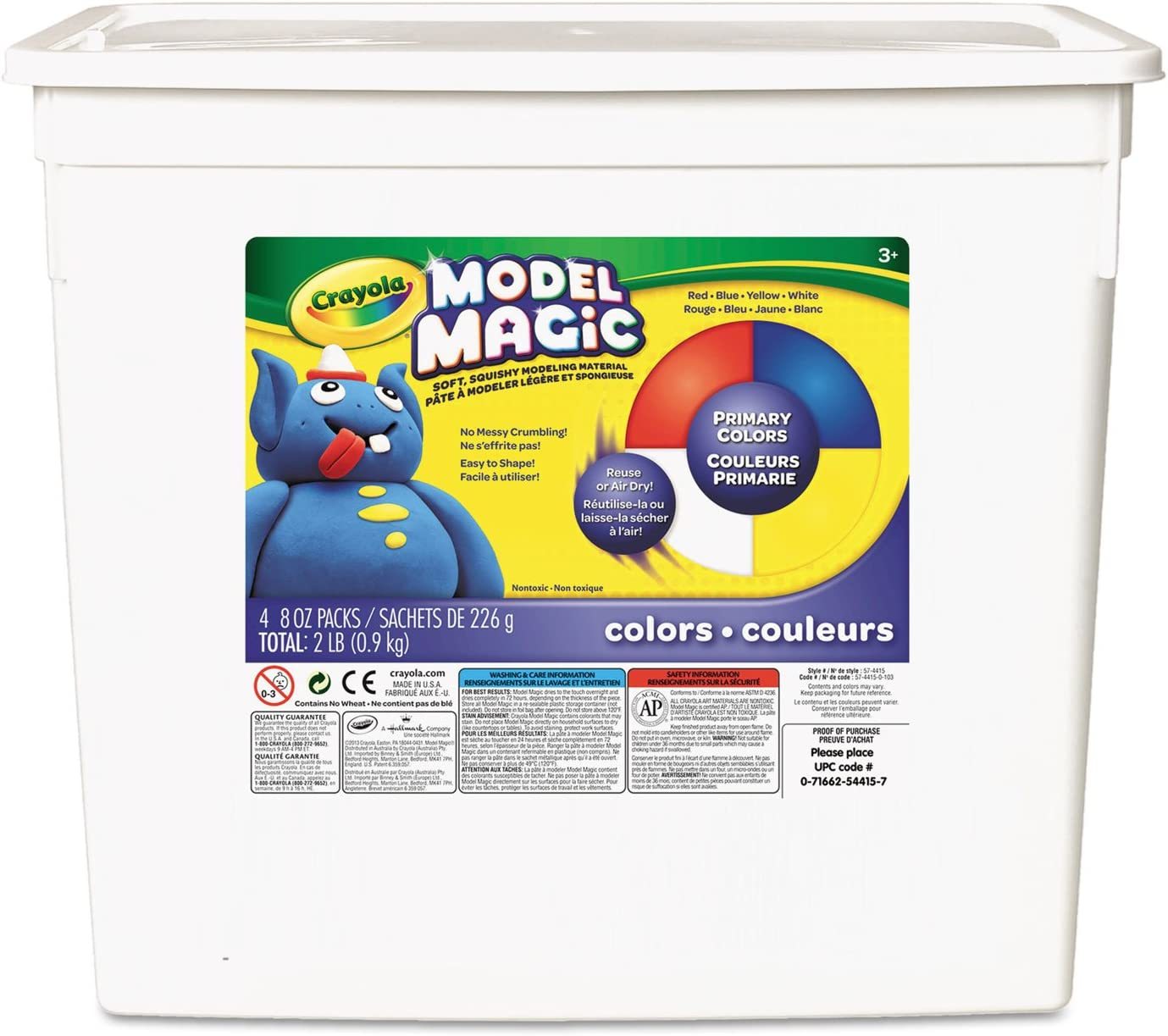Crayola 574415 Model Magic Modeling Compound Red oz 8 Blue each Clearance SALE Limited time Max 73% OFF