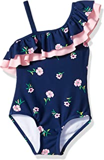 Girls' Morgan Floral Ruffle One-Shoulder 1-Piece Swimsuit