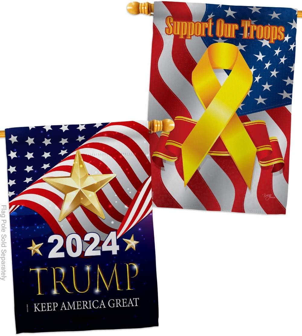 Max 81% OFF 2020 Trump Keep America Great House sale P Vote Pack - Patriotic Flag