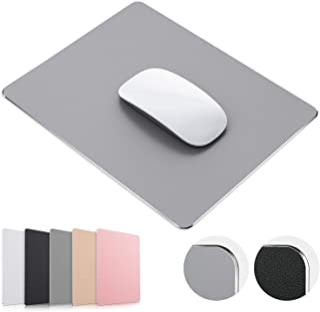 TOSFFICE Tapis de Souris Gamer Mouse Pad Gaming 23*18cm Tapis de Souris Gaming en Aluminium Métal Rigide Mousepad Company ...