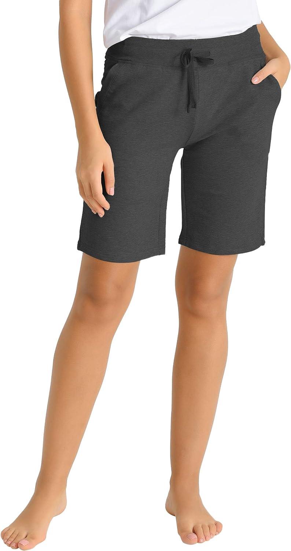 Latuza Women's Cotton Jersey Bermuda Shorts with Pockets