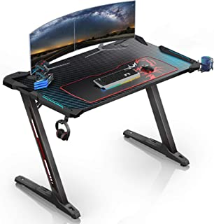 Eureka Ergonomic Z1-S Computer Gaming Desk - Black