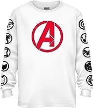 Marvel Avengers Endgame Logo Symbol Captain America Graphic Longsleeve T-Shirt
