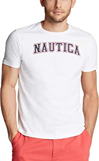 Nautica Men's Short Sleeve 100% Cotton Classic Logo Series Graphic Tee Shirt