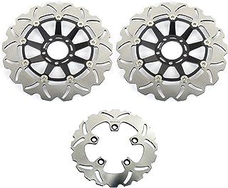 TARAZON Bremsscheiben Rotoren Set vorne hinten 3 pcs für SUZUKI GSX R 1100 G H J 86 87 88