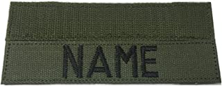 Custom Military Name Tape, with Fastener or Sew-On, US ARMY USAF USMC POLICE CivilAirPatrol .... (With Fastener, OD)
