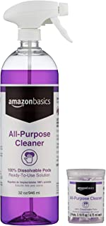 AmazonBasics Dissolvable All-Purpose Cleaner Kit with 3 Refill Pacs