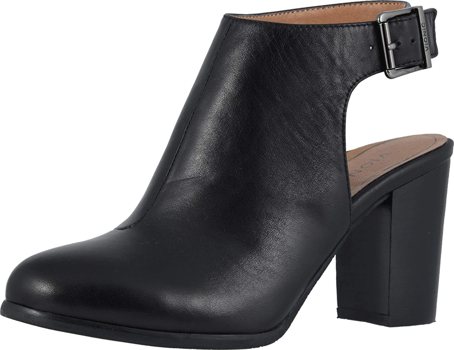 Vionic Women's Perk Lacey Ankle Strap Bootie - Ladies Boots with Concealed Orthotic Arch Support