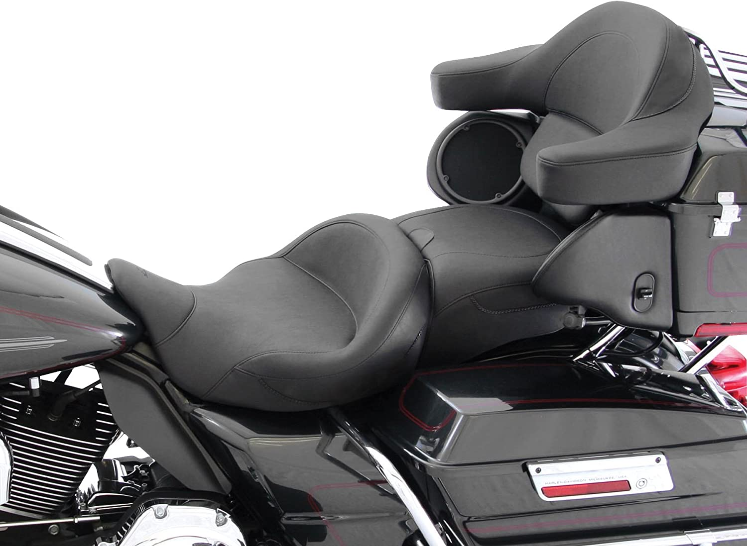 Vintage for 06-07 Harley FLHX2 Mustang Super Solo Seat with Backrest