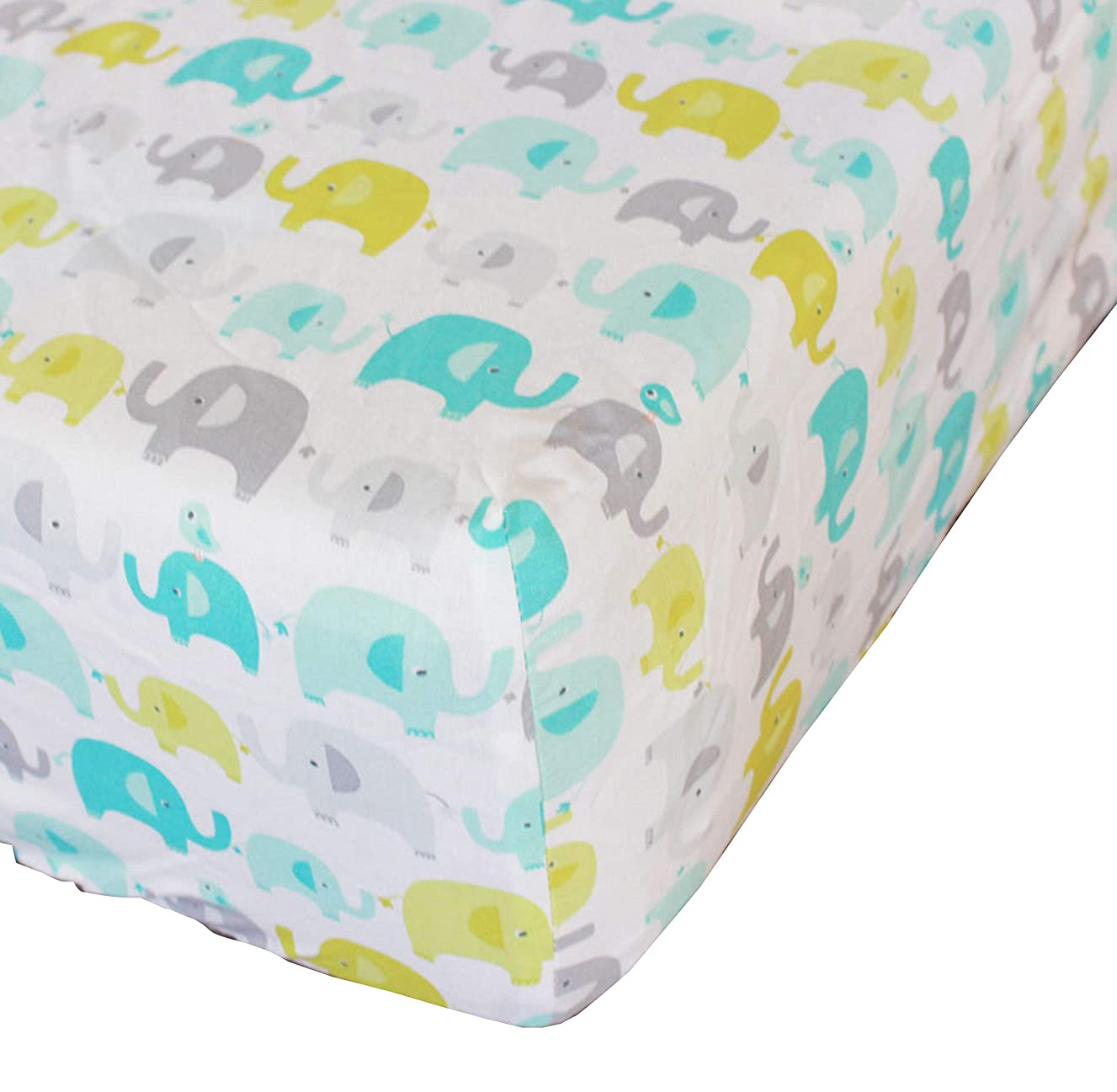 Baby Safari Elephant Crib Fitted Sheet