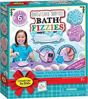 Creativity For Kids – Snowflake Surprise Bath Fizzies – Create Your Own DIY Bath Bombs - Makes 6 Snowflake Designs