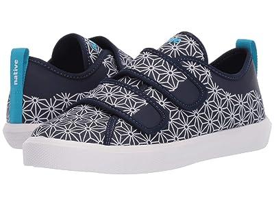 Native Kids Shoes Monaco HL Canvas (Little Kid) (Regatta Blue/Shell White/Asanoha) Kid