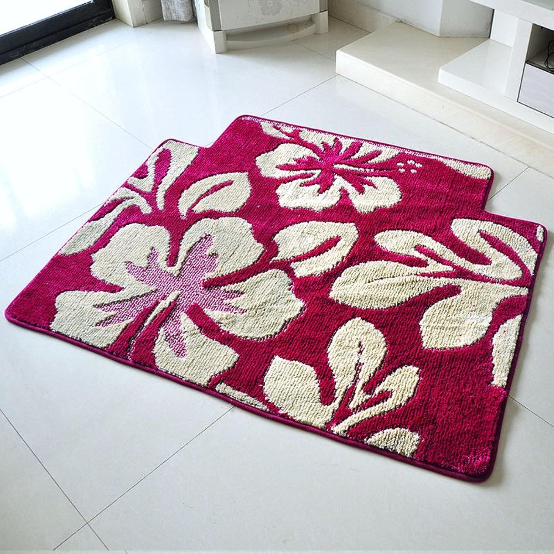 Bathroom water-absorbing anti-skidding mat floor mat Hallway kitchen living room bedroom pad-B 80x120cm(31x47inch)