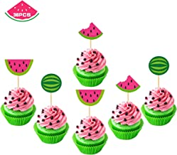 Watermelon Cupcake Topper One In A Melon Cake Topper Melon Themed Baby Girl 1st Birthday Party Supplies Summer Tropical Fruit Picks Decorations 36 PCS