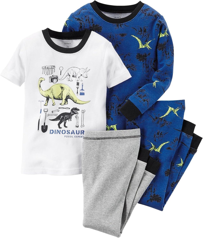 Carter's Baby Boys' 4 Piece PJ Set - Dino