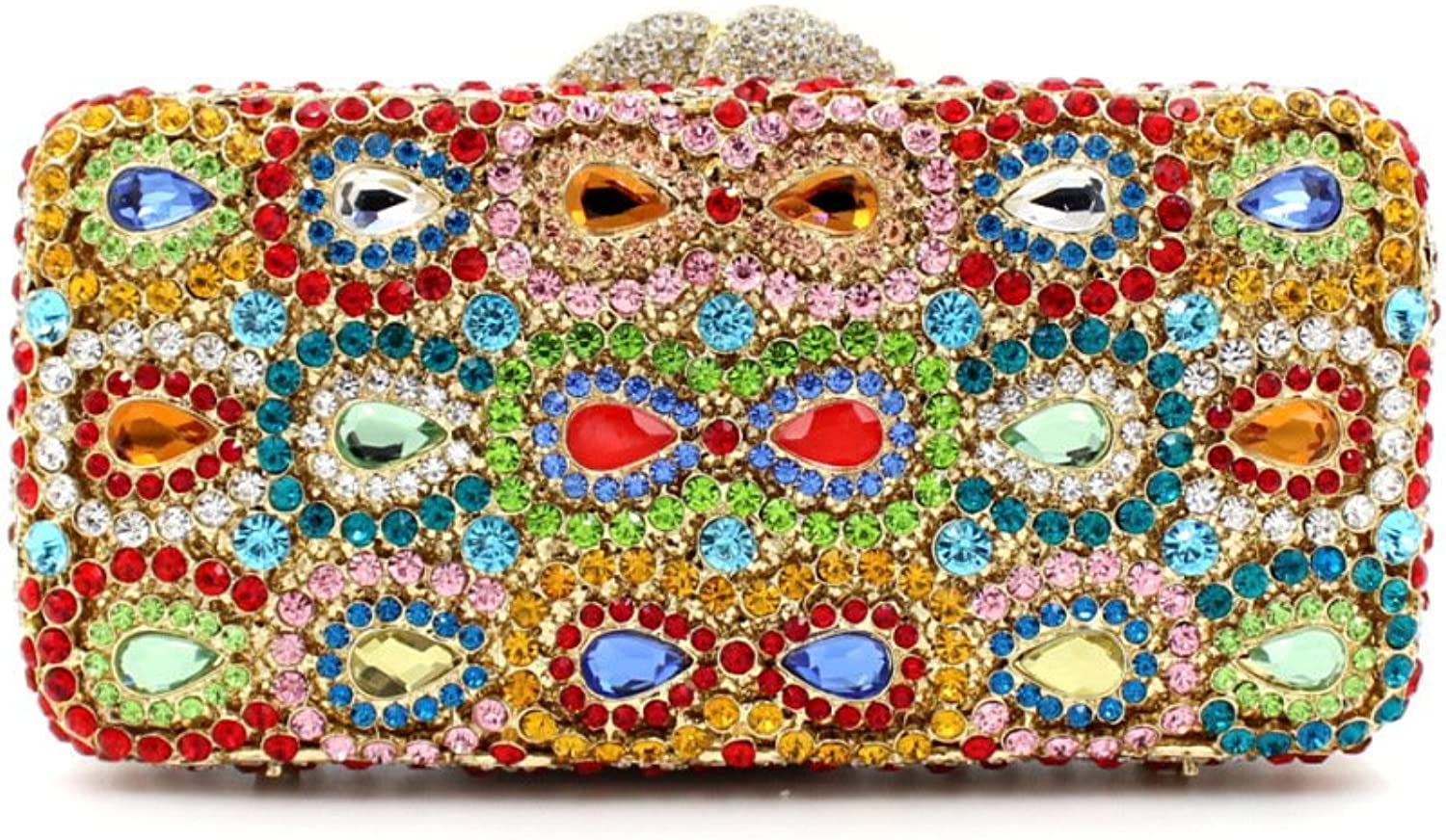 Mageleo Lady Evening Clutches Shoulder Water Droplets Bags Luxury Dinner Party colorful Shells Evening Embroidery Bag