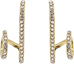 Vince Camuto - Pave Lobe Double Hoop Earrings