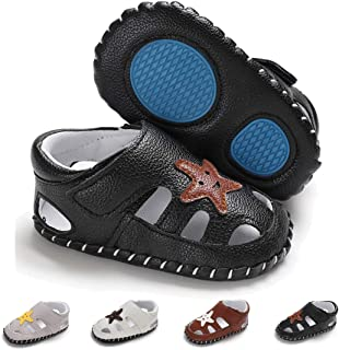 ENERCAKE Baby Boys Sandals Summer Shoes Closed-Toe Soft Sole Anti-Slip Toddler Infant Girls First Walker Shoes