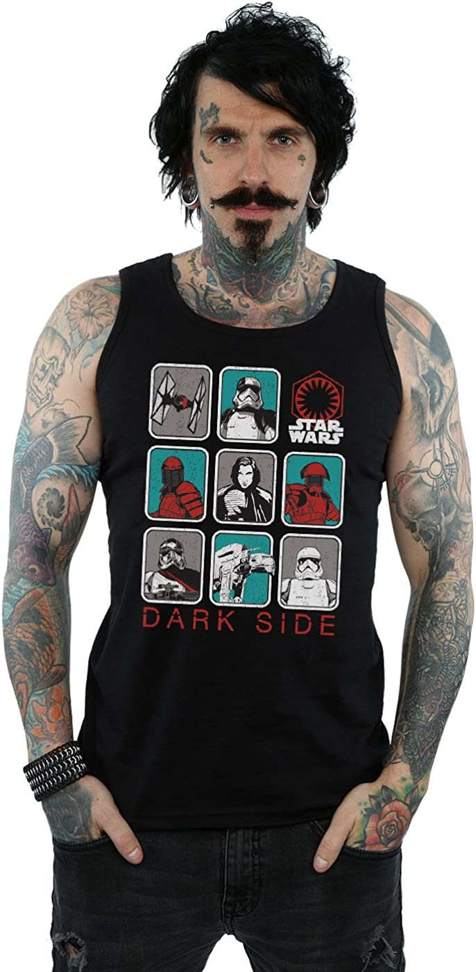STAR WARS Men's The Last Jedi Max 42% OFF Character Dark Top Tank Multi Year-end gift Side
