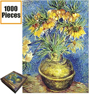 Jigsaw Puzzles 1000 Pieces Vincent Van Gogh Artwork Art for Teen Adult Grown Up Puzzles Large Size Toy Educational Games Gift Jigsaw Puzzle Jigsaw Puzzle 1000 PCS (Vase with Daisies and Anemones)