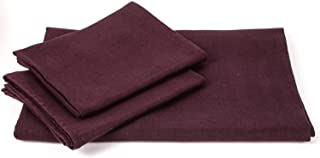 LinenMe Aubergine Linen Bath Towels Set Lara 2 Big Towels and 2 Hand Towels, Made in Europe, Bath Linen, European Linen, Soft, Prewashed