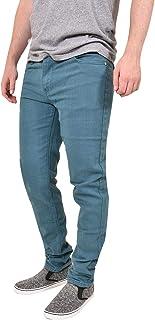 Mens Slim Fit Carbon Skinny Jeans Stretch Denim Pants Basic 5 Pocket Trousers Bottoms