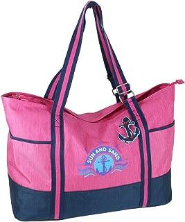 J JONES JENNIFER JONES Großer Shopper XXL Handtasche aus Canvas Schultertasche Freizeittasche 2 Farben