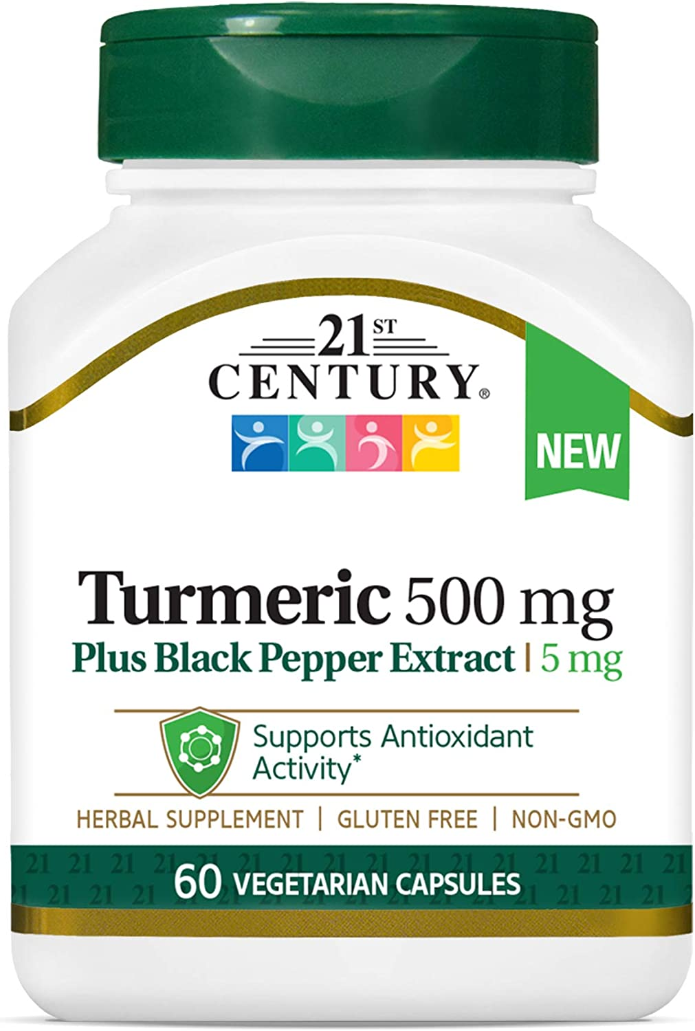 Genuine 21st Century Turmeric with Black 60 Pepper All items in the store Count Extract