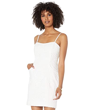Lilly Pulitzer Shelli Dress (Resort White Large Petal Eyelet) Women