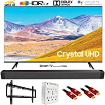 "SAMSUNG UN43TU8000 43"" 4K Ultra HD Smart LED TV (2020 Model) w/Deco Gear Soundbar Bundle"