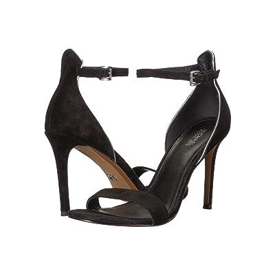 MICHAEL Michael Kors Harper Sandal (Black Kid Suede/Mirror Metallic) High Heels
