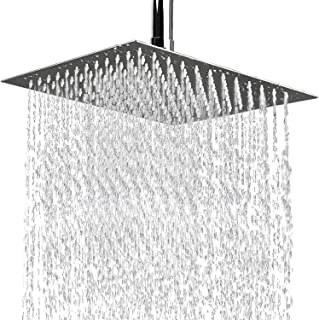Shower Head,8 Inch Luxury Square High Pressure waterfall Stainless Steel Rain Showerhead,Rainfall Relaxed Shower Experienc...