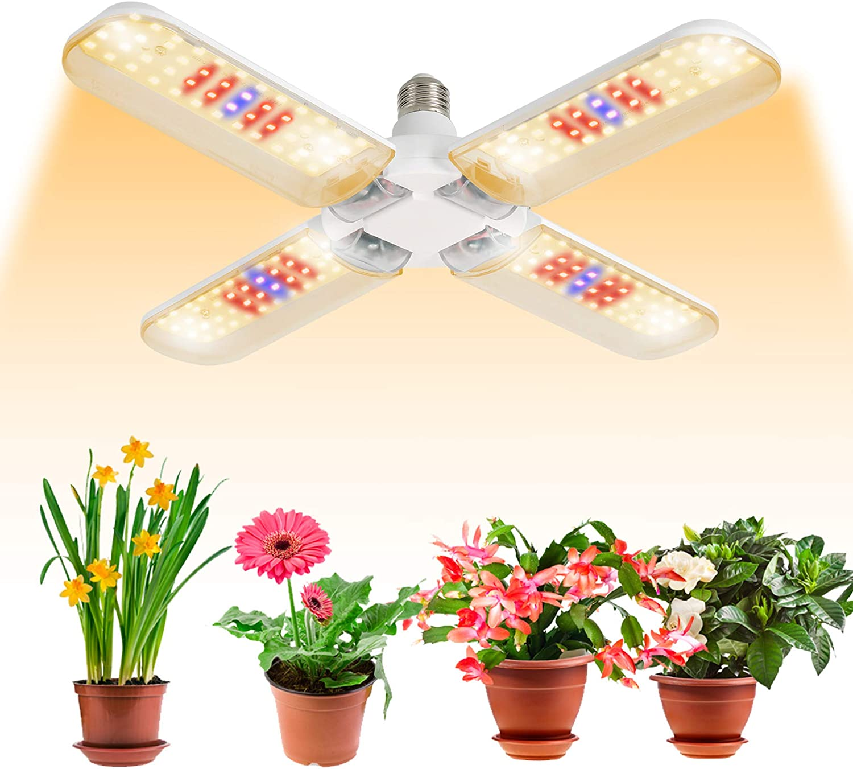 BOSYTRO 150W Plant Growth Bombillas, Lamparas LED Cultivo luces LED lampara Grow Light Lámpara de Plantas Espectro Completo,Adecuado para base E27 para Invernadero hidropónico plantas Cultivo interior