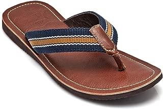 tZaro Genuine Leather Tan, Brown & Blue Slippers - Alps, SLPCLDWB1906TN