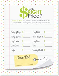 Big Dot of Happiness is It The Right Price – Baby Shower Game - 18 Count