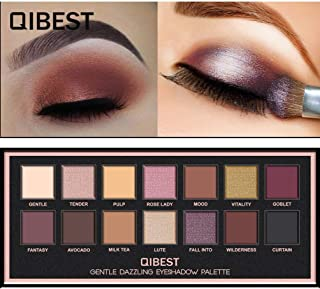 Aisonbo Pro Eyeshadow Palette Makeup - Matte + Shimmer 14 Colors Eye Shadow Powder Make Up Waterproof Eye Shadow Palette Cosmetics For Everyone from Beginner to Professionals