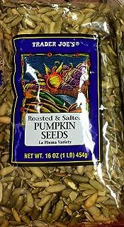 Trader Joe's Roasted & Salted Pumpkin Seeds La Pluma Variety 16 oz (Pack of 2)