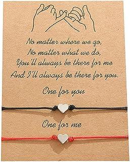 2 قطعة أسورة بينكي وعد خلخال لعائلة بي إف إف أو عائلة النساء الرجال في سن المراهقة الفتيات الأحمر